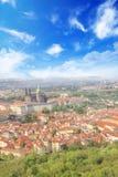 Bello punto di vista della st Vitus Cathedral, del castello di Praga e di Mala Strana a Praga, punto di vista di Ceco RepublicBea Fotografie Stock Libere da Diritti