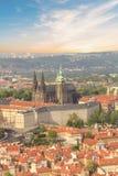 Bello punto di vista della st Vitus Cathedral, del castello di Praga e di Mala Strana a Praga, punto di vista di Ceco RepublicBea Fotografia Stock