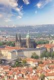 Bello punto di vista della st Vitus Cathedral, del castello di Praga e di Mala Strana a Praga, punto di vista di Ceco RepublicBea Immagine Stock