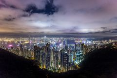 Bello punto di vista di Hong Kong fotografie stock libere da diritti