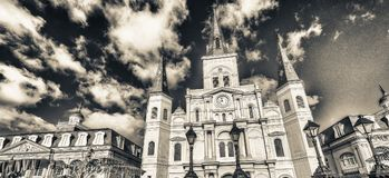 Bello punto di vista di Jackson Square a New Orleans, Luisiana fotografia stock