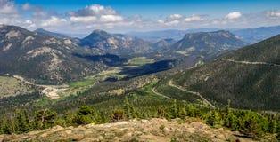 Bello punto di vista di Rocky Mountain National Park Fotografia Stock Libera da Diritti