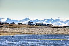 Bello punto di vista scenico di Spitsbergen (isola) delle Svalbard, Norvegia Fotografia Stock