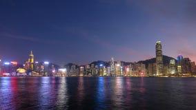 Bello punto di vista di Victoria Harbour, Hong Kong immagini stock