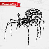 Bello ragno di vettore, insetto esotico Progettazione modellata Fotografia Stock Libera da Diritti