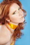 Bello redhead Fotografia Stock