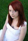 Bello redhead teenager con i freckles Fotografia Stock