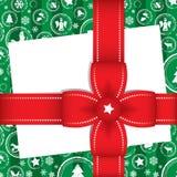 Bello regalo di Natale con la scheda Fotografia Stock Libera da Diritti