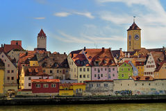 Bello Regensburg immagine stock