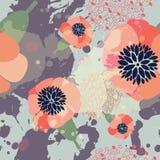 Bello reticolo floreale Fotografia Stock