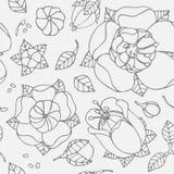 Bello reticolo floreale Immagini Stock