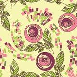 Bello reticolo floreale senza cuciture Fotografia Stock Libera da Diritti