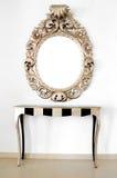 Bello retro specchio barrocco Fotografia Stock