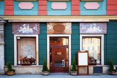 Bello ristorante a Wroclaw, Polonia Fotografia Stock Libera da Diritti