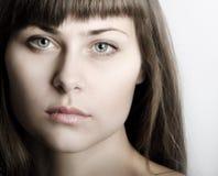 Bello ritratto del fronte della donna Fotografia Stock