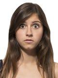 Bello ritratto dell'adolescente sorpreso spaventato Fotografie Stock Libere da Diritti