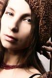 Bello ritratto della donna Fotografia Stock