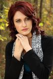 Bello ritratto della giovane donna Fotografie Stock Libere da Diritti