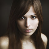Bello ritratto della giovane donna Immagine Stock