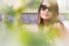 Bello ritratto della ragazza al sole Fotografia Stock Libera da Diritti