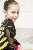 Bello ritratto della ragazza di addestramento di sport Fotografie Stock