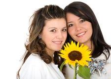 Bello ritratto delle sorelle Fotografia Stock Libera da Diritti