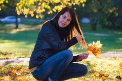 Bello ritratto di autunno Fotografia Stock
