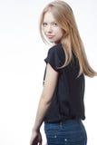 Bello ritratto teenager biondo della ragazza Fotografia Stock