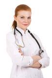 Bello riuscito medico femminile. Immagini Stock