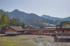 Bello scenico del santuario di Itsukushima immagine stock libera da diritti