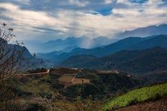 Bello scenico del terrazzo del riso e della piantagione di agricoltura nella s Immagine Stock