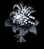 Bello schizzo dipinto del fiore Fotografie Stock