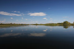 Bello si rannuvola il fiume Immagine Stock Libera da Diritti
