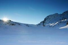 Bello snowscape Fotografie Stock Libere da Diritti
