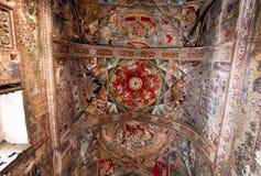 Bello soffitto con i murali dentro il palazzo storico Fotografie Stock Libere da Diritti