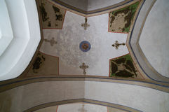 Bello soffitto nella cattedrale di Vank, Ispahan, Iran Immagini Stock