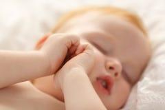 Bello sonno del bambino Fotografia Stock