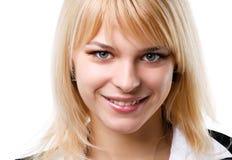 Bello sorridere biondo della ragazza Immagine Stock