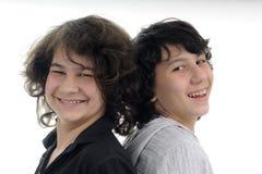 Bello sorridere dei fratelli Fotografia Stock Libera da Diritti
