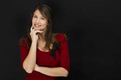 Bello sorridere dell'allievo femminile Immagine Stock