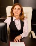 Bello sorridere della donna di affari immagini stock libere da diritti