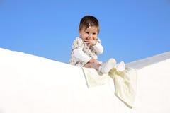 Bello sorridere della neonata Fotografie Stock