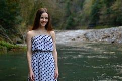 Bello sorridere della ragazza Fotografia Stock