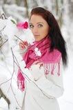 Bello sorridere della ragazza Gelo, inverno Fotografia Stock Libera da Diritti
