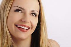 Bello sorriso, cigli lunghi Immagine Stock Libera da Diritti