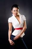 Bello sorriso della donna asiatica Fotografia Stock