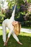 Bello sorriso di estate della natura del parco di verde di ginnastica di sport della donna Fotografie Stock Libere da Diritti