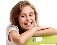 Bello sorriso femminile dell'allievo Immagine Stock
