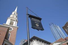 Bello stato di Boston Massachussets della città fotografie stock libere da diritti