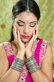 Bello stile tradizionale indiano di modo Immagini Stock